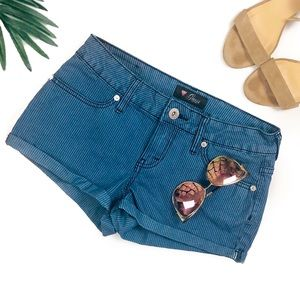 Guess jeans blue pinstripe shorts 💗
